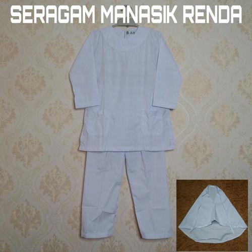 Foto Produk Baju Setelan Seragam Anak Manasik haji TK/PAUD MODEL RENDA dari seragambekasi