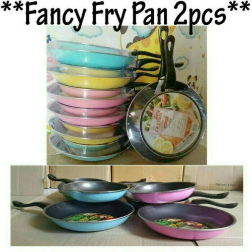 Foto Produk Teflon MASPION 2 PCS Fancy Fry Pan Set Teplon Wajan Anti Lengket dari PELANGI15 ACCESORIES