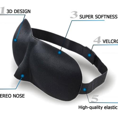Foto Produk 3D Sleep Mask Eye Mask Travel Soft Sleeping Googles Kacamata Tidur dari lbagstore