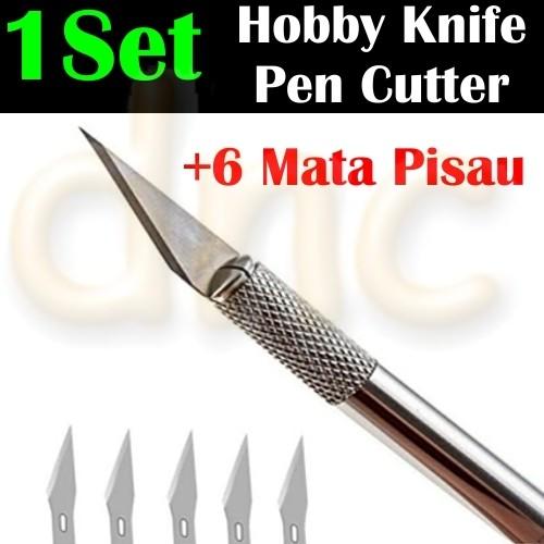 Foto Produk Art Hobby Knife Stencil Craft Pen Cutter Scalpel Pisau IC Kertas *HS02 dari donicova