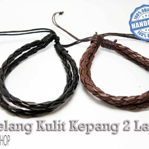Foto Produk VeE Gelang Kulit Kepang 2 Lapis dari Vee Jewelry
