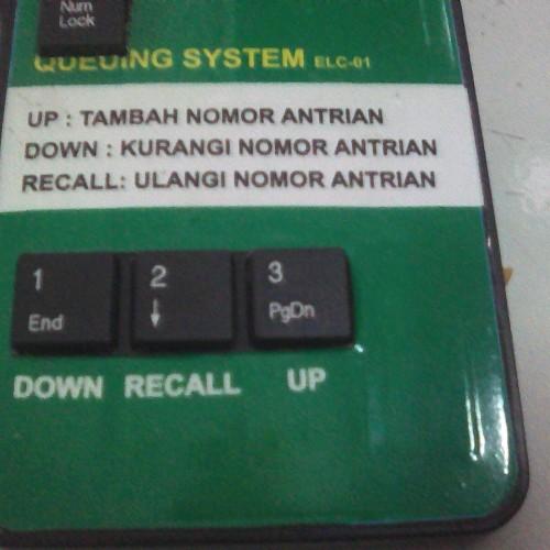 Foto Produk Tombol Panggil Antrian Wireless Numeric Keypad + USB + Adaptor dari Stufi Media