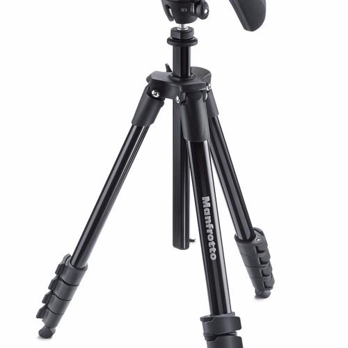 Foto Produk Manfrotto Tripod MKCOMPACTACN-BK Compact Action - Black dari taskamera-id