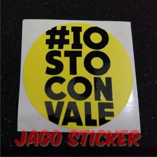 Foto Produk Sticker / Stiker Cutting Visor Helm Motogp VR 46 Rossi Iostoconvale dari Jago Sticker