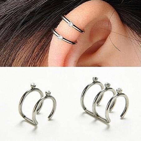 Foto Produk Ear clip hoop diamond   aksesoris import murah dari Sunset Acc Collection