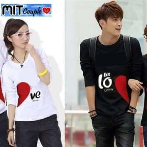 Foto Produk Baju Couple Let Love LP - Kaos Pasangan Murah Lengan Panjang dari Z11Collection