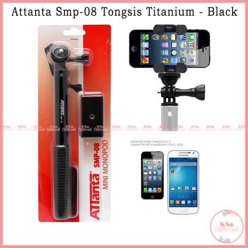 Foto Produk Tongsis Attanta Titanium SMP-08 Monopod - Hitam For Smartphone Gopro dari We Needs Official