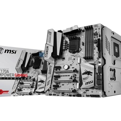 Foto Produk MSI Z170A MPOWER GAMING TITANIUM Z170 LGA1151 DDR4 ATX Motherboard dari JOJO Comptech