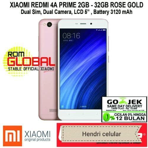 Foto Produk Xiaomi Redmi 4a Prime 32/2GB (4G LTE) - Gold/Grey 4G dari Hendri Celular