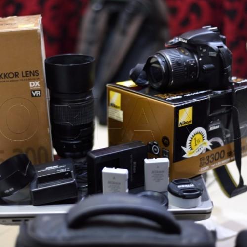 Foto Produk Nikon D3300 Kit 18-55mm f/3.5-5.6G VR II N Lensa Nkon AFS 55-300 N BNS dari Hobi-Anda