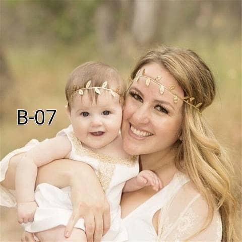 Foto Produk bando daun ibu dan anak - 0-6 bulan, gold dari BabyGwen