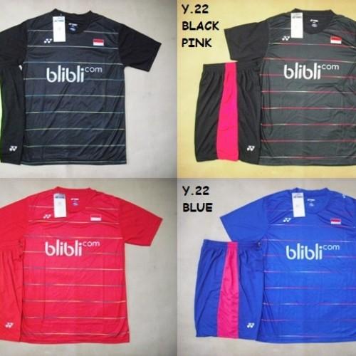 Foto Produk SETELAN BADMINTON / BULUTANGKIS YONEX (Bisa Untuk Kaus Tim) dari Gudang-Sporty