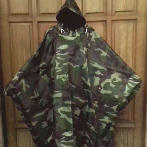 Foto Produk jas hujan motor jubah ponco / pocho loreng army tentara dari wirdi