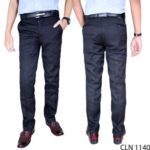 Foto Produk Celana Kantor Pria Formal Panjang Slimfit Katun Hitam CLN 1140 - 29 dari Gudang Fashion