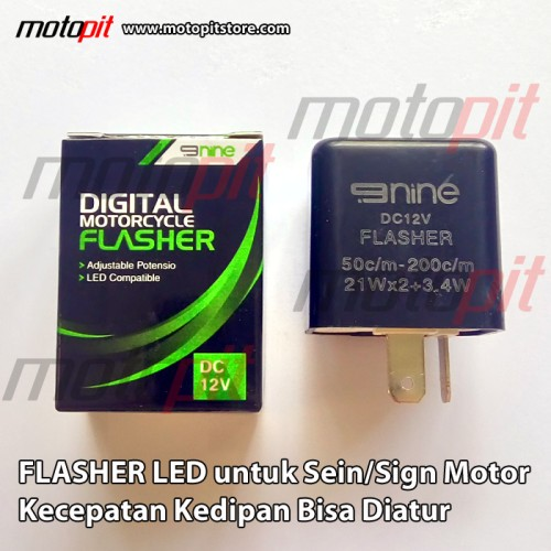 Foto Produk LUMINOS 9NINE Flasher LED untuk Sein Sign Sen Motor Kedip Bisa Diatur dari Motopit