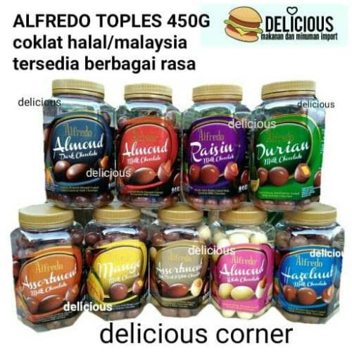 Foto Produk ALFREDO TOPLES CHOCOLATE 450G COKLAT BOTOL JAR MALAYSIA ENAK - almond white dari DELICIOUS CORNER