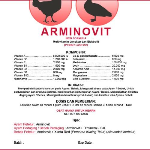 Foto Produk ARMINOVIT - Vitamin + Asam Amino untuk Ayam & Bebek dari Cv Kuda Hitam Perkasa