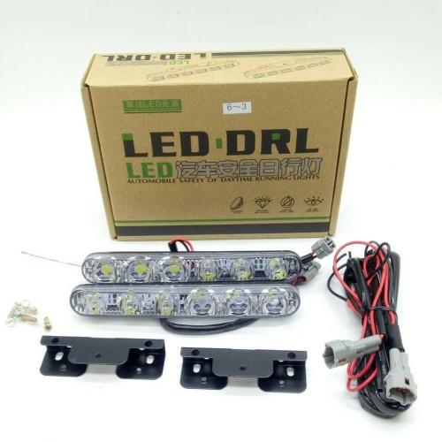 Foto Produk DRL LED model Fortuner terang 2 x 6 titik / Lampu LED DRL 6 Titik dari Prime Auto Variasi