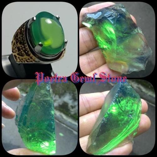Foto Produk GREEN BARJAD API HIGH QUALITY 100% NATURAL dari Poetra Gems Stone