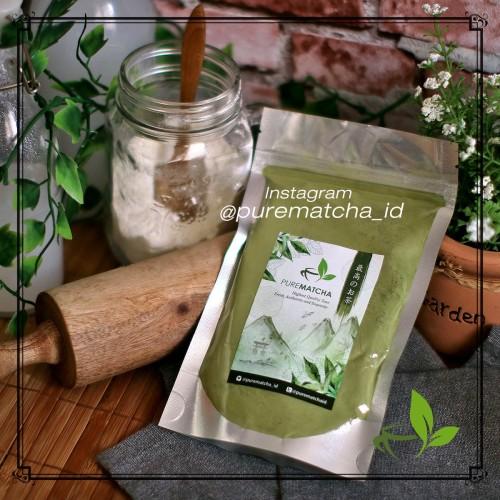 Foto Produk Pure Matcha Greentea Bubuk Powder Green Tea Murni 50gr Reguler dari Pure Matcha