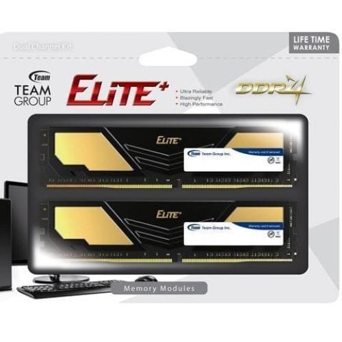 Foto Produk Team Elite Plus Black DDR4 PC21000 2666Mhz Dual Channel 8GB (2x4GB) dari distributorkomputer