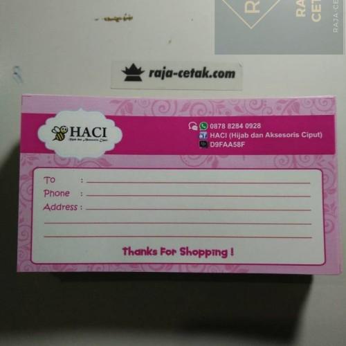Foto Produk Stiker Kirim untuk Menulis Alamat di Paket Online Shop dari Raja Cetak