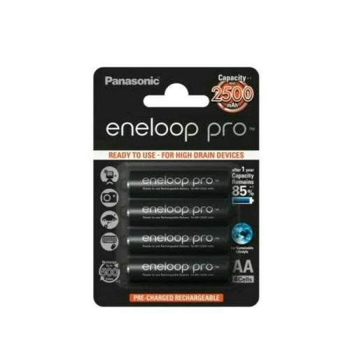 Foto Produk Eneloop pro Baterai A2 AA 2500 mah panasonic 4 Pcs dari flipper
