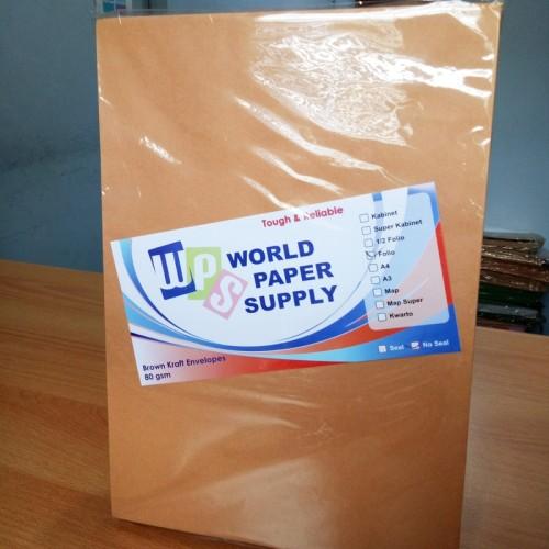 Foto Produk Amplop Coklat Ukuran Folio WPS ( 23,5 x 34,5 cm ) dari Atk Kaki5