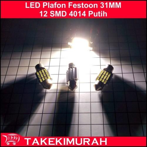 Foto Produk LED Plafon Festoon 31MM 12 SMD 4014 Putih Heatsink dari Takekimurah