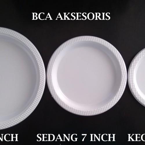 Foto Produk PIRING PLASTIK BESAR UKURAN 9 INCH - 9 IN WARNA PUTIH SUSU ISI 50 PCS dari BCA AKSESORIS