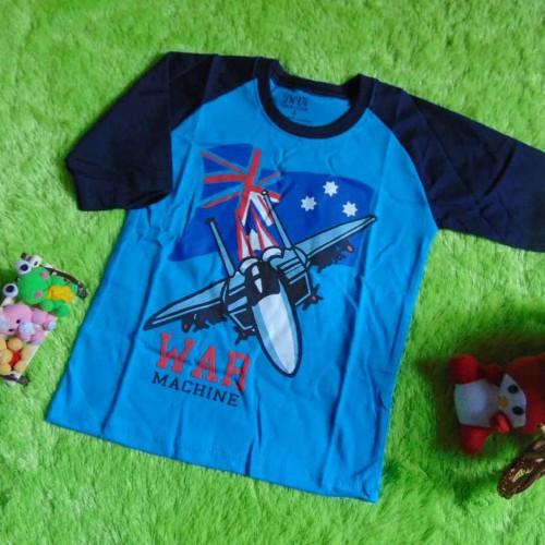 Foto Produk kaos raglan anak 3-4th motif War Machine Biru  dari KembarShop1