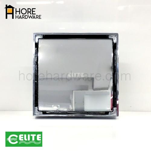 Foto Produk ELITE Floor Drain Isi Keramik Pembuangan Air Chrome Bahan Kuningan dari HORE Hardware
