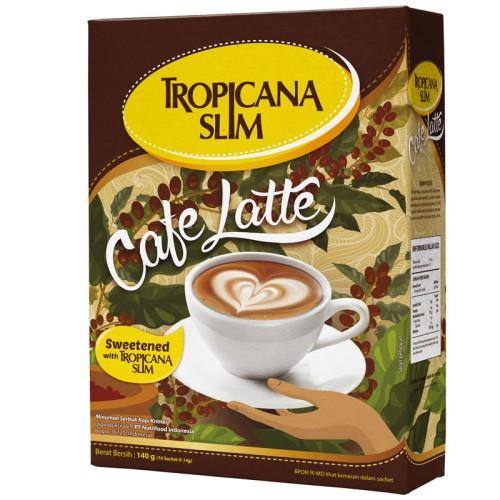 Foto Produk Triple Pack: Tropicana Slim Cafe Latte (10 Sachet) - Sugar FREE dari NutriMart