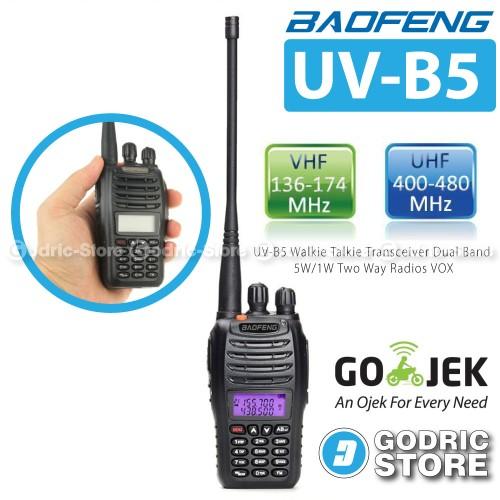 Foto Produk Baofeng Walkie Handy Talkie HT UV-B5/UVB5 DualBand Free Earset dari G-Rex