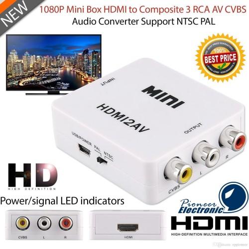 Foto Produk HDMI to AV RCA converter adapter dari Mix acc88