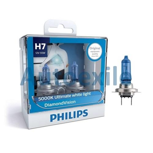 Foto Produk Philips Diamond Vision H7 12V 55W 5000K (Lampu Depan Putih Mobil) dari Autoexile