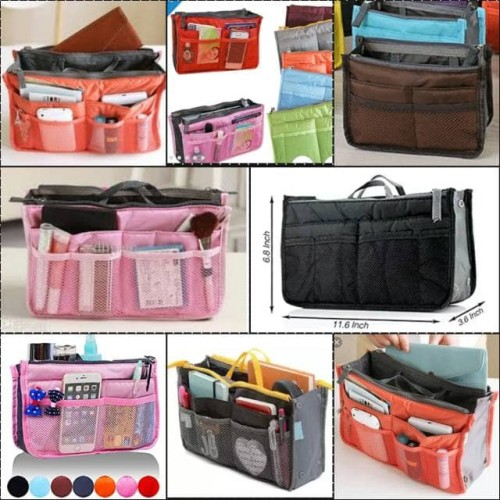Foto Produk Korean Dual in Bag / Tas Organiser Multifungsi / Daleman Tas dari Travelycious