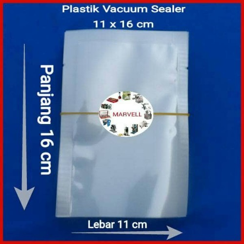 Foto Produk Plastik Vacuum 11x16 cm, Vacum Bag Plastic Vakum Sealer 100 lembar dari marvell