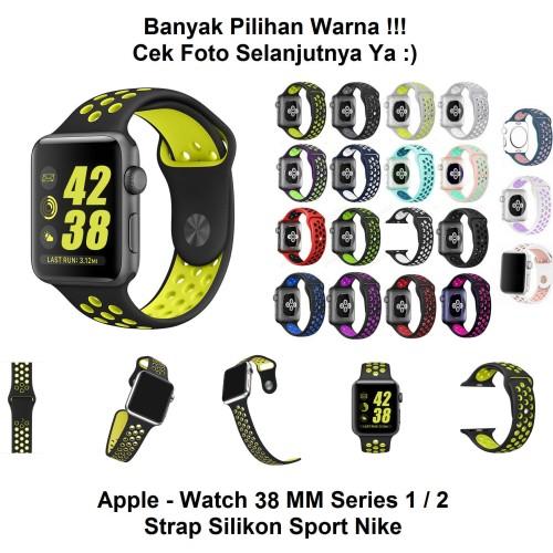 Foto Produk Apple Watch iWatch 38 mm 38mm - Strap Silikon Nike Sport Band Tali dari kioscasing