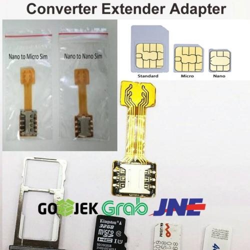 Foto Produk Hybrid Dual Sim Card Micro SD Converter Extender Adapter dari Fast Cheap