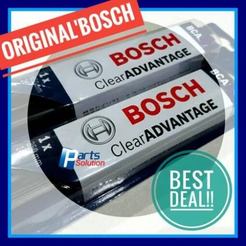"Foto Produk Wiper Frameless Depan Avanza Xenia BOSCH Clear Advantage 20""+16"" dari Parts Solution"