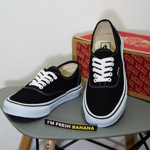 Foto Produk Sepatu Vans Authentic Classic Black White Hitam DT Premium dari Fresh Banana