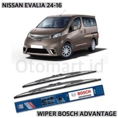 Foto Produk WIPER BOSCH ADVANTAGE - NISSAN EVALIA 24-16 CLASSIC dari Otomart Indonesia