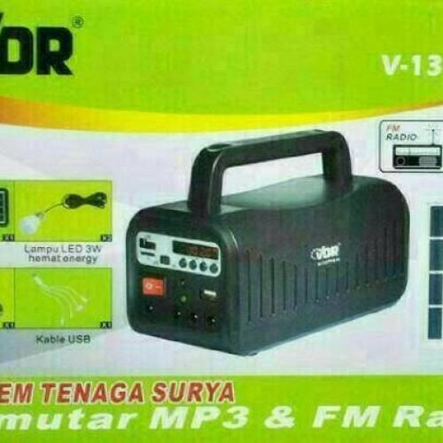 Foto Produk RADIO SOLAR PANEL TENAGA SURYA/MOBILE POWER PEMUTAR MP3 & FM VDR dari tokomurrah