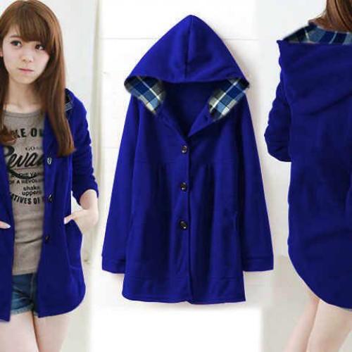 Foto Produk [jaket Melda elektrik RO] jaket wanita babyterry biru elektrik dari FASHIONISTA's GROSIR