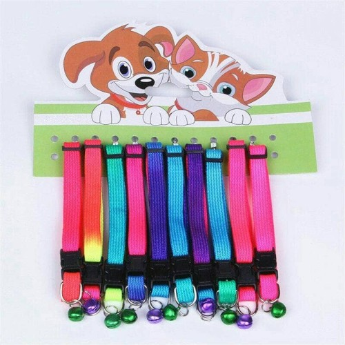 Foto Produk Kalung Anjing Kecil Dog Collar Bell Rainbow dari Harley Shop