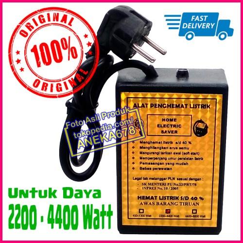 Foto Produk ALAT PENGHEMAT LISTRIK HOME ELECTRIC SAVER ORIGINAL 2200 - 4400 WATT dari ANEKA 678