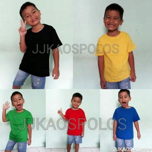 Foto Produk Size 1-Kaos Polos Anak Cotton Combed 20s dari Online happyshop
