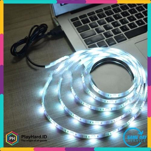 Foto Produk Mood Light Led Strip 5050 RGB 1M with USB Controller dari PlayHardID