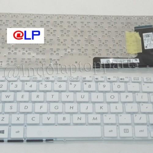 Foto Produk Keyboard Asus E202M E202MA E202 E202S E202SA TP201SA White dari Indolaptopparts Store